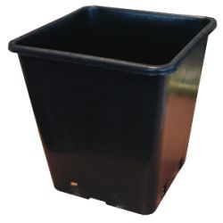 11L Black Square Pot